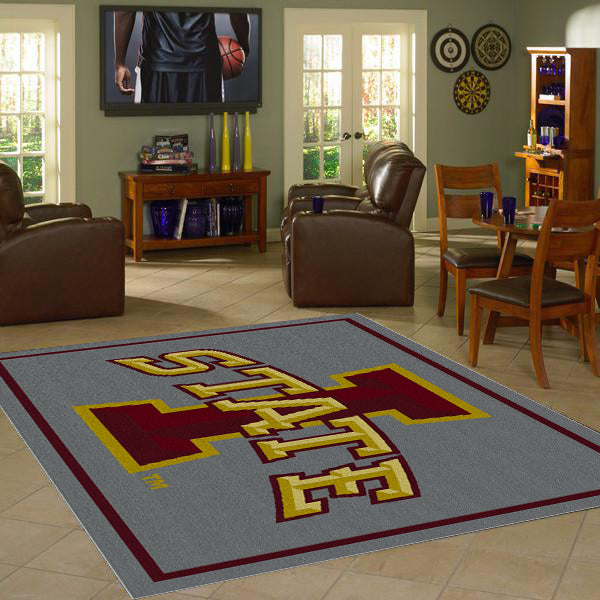 Iowa State University Team Spirit Rug  College Area Rug - Fan Rugs