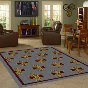 Iowa State University Repeating Logo Rug  College Area Rug - Fan Rugs