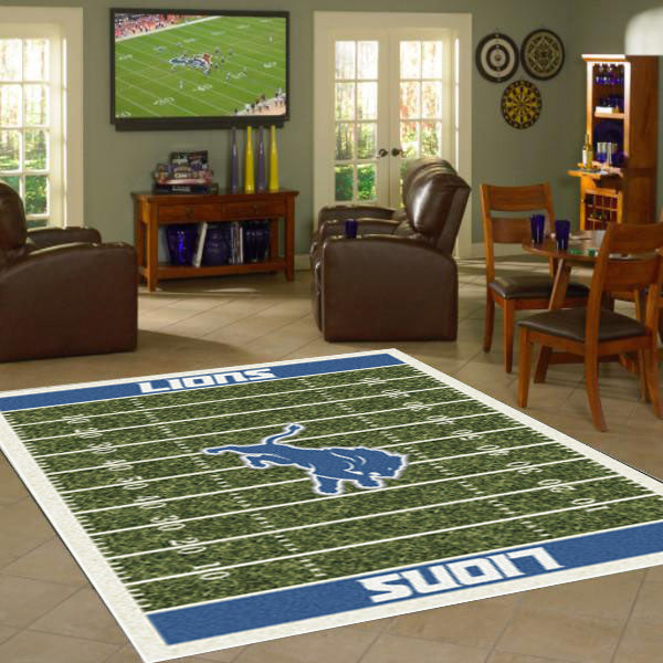 Detroit Lions NFL Football Field Rug  NFL Area Rug - Fan Rugs
