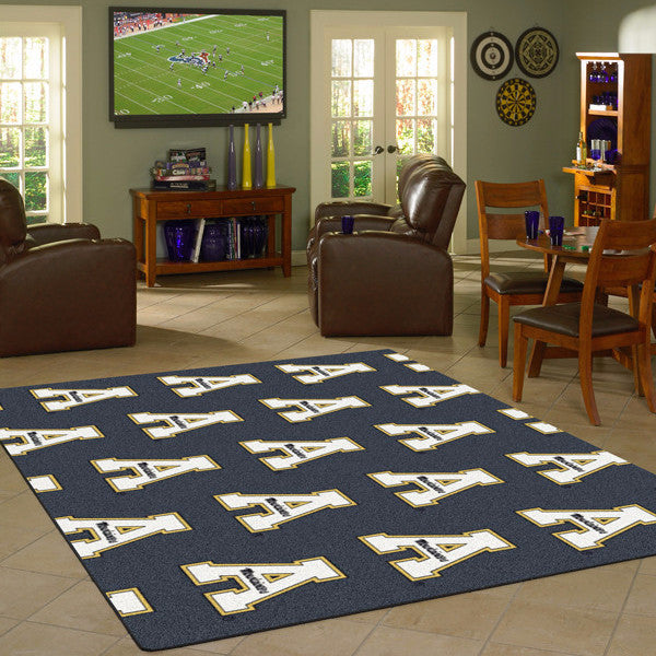 Appalachian State University Repeating Logo Rug  College Area Rug - Fan Rugs