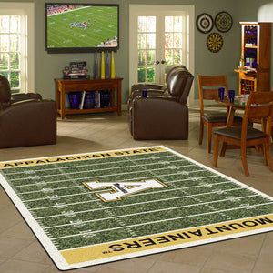 Appalachian State University Football Field Rug  College Area Rug - Fan Rugs