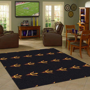 ASU - Arizona State University Repeating Logo Rug  College Area Rug - Fan Rugs