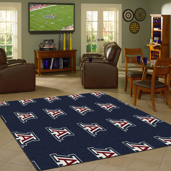 Arizona University Repeating Logo Rug  College Area Rug - Fan Rugs