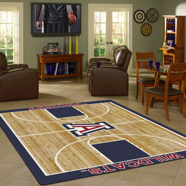 Arizona University Basketball Court Rug  College Area Rug - Fan Rugs