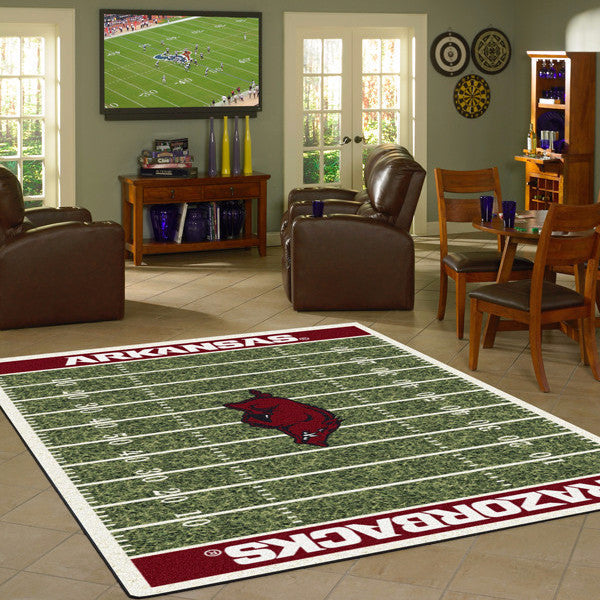 Arkansas University Football Field Rug  College Area Rug - Fan Rugs