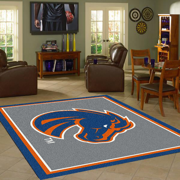 Boise State University Team Spirit Rug  College Area Rug - Fan Rugs