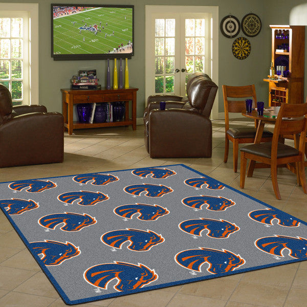Boise State University Repeating Logo Rug  College Area Rug - Fan Rugs