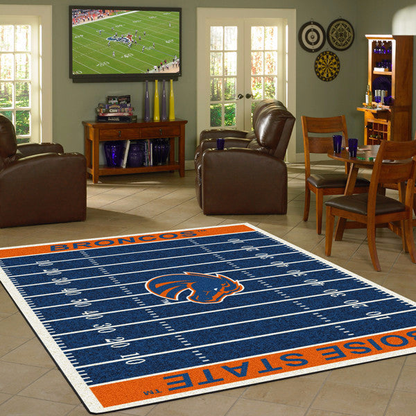Boise State University Football Field Rug  College Area Rug - Fan Rugs