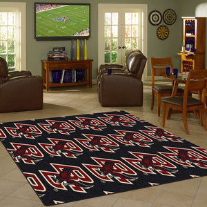 Boston College Repeating Logo Rug  College Area Rug - Fan Rugs