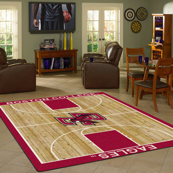 Boston College Basketball Court Rug  College Area Rug - Fan Rugs