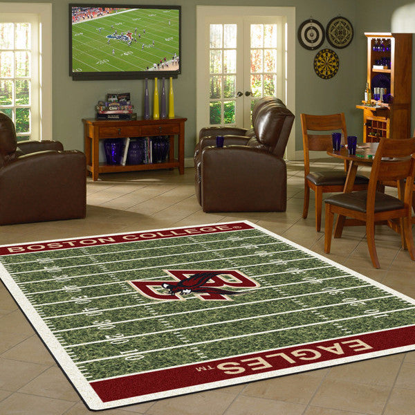 Boston College Football Field Rug  College Area Rug - Fan Rugs