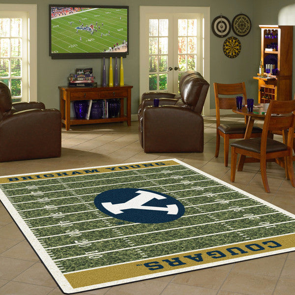 Brigham Young University Football Field Rug  College Area Rug - Fan Rugs