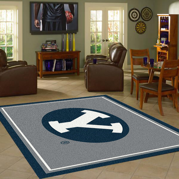Brigham Young University Team Spirit Rug  College Area Rug - Fan Rugs