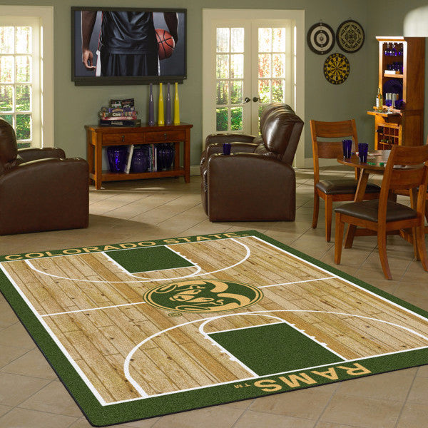 Colorado State University Basketball Court Rug  College Area Rug - Fan Rugs