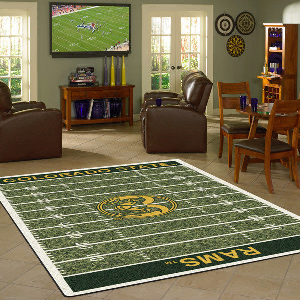 Colorado State University Football Field Rug  College Area Rug - Fan Rugs