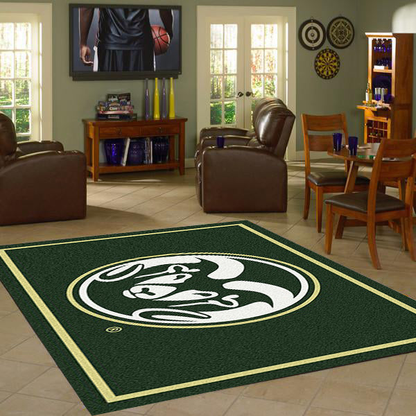 Colorado State University Team Spirit Rug  College Area Rug - Fan Rugs
