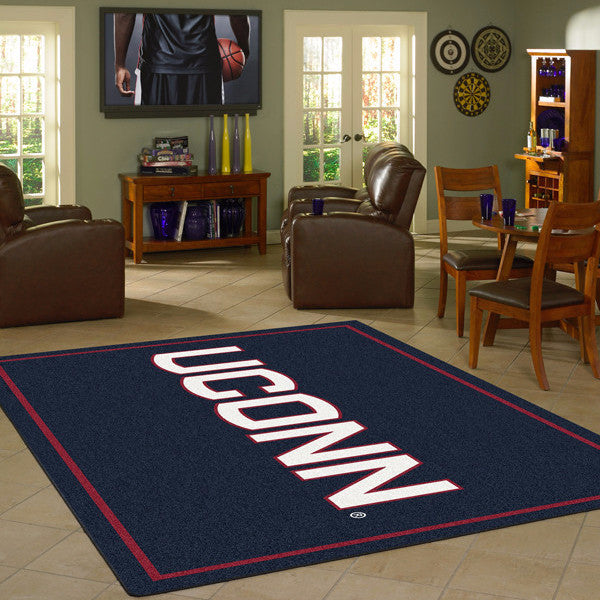 Connecticut University Team Spirit Rug  College Area Rug - Fan Rugs