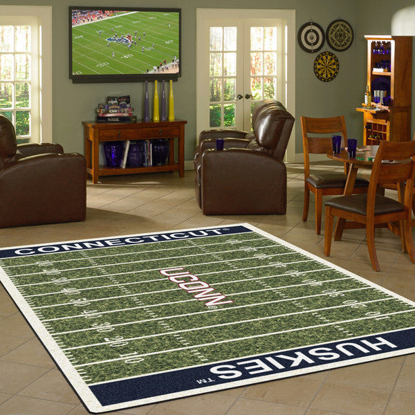 Connecticut University Football Field Rug  College Area Rug - Fan Rugs