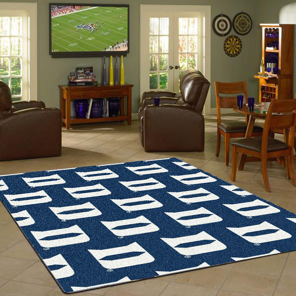 Duke University Repeating Logo Rug  College Area Rug - Fan Rugs