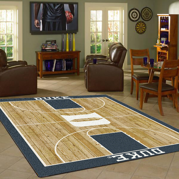 Duke University Basketball Court Rug  College Area Rug - Fan Rugs