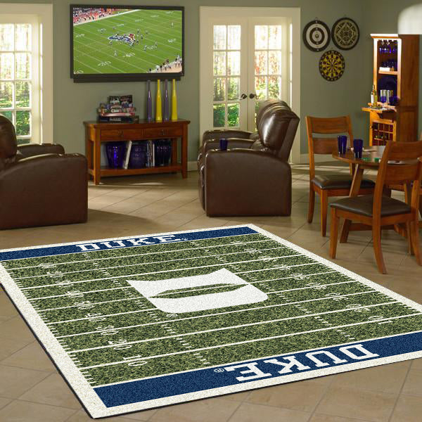 Duke University Football Field Rug  College Area Rug - Fan Rugs