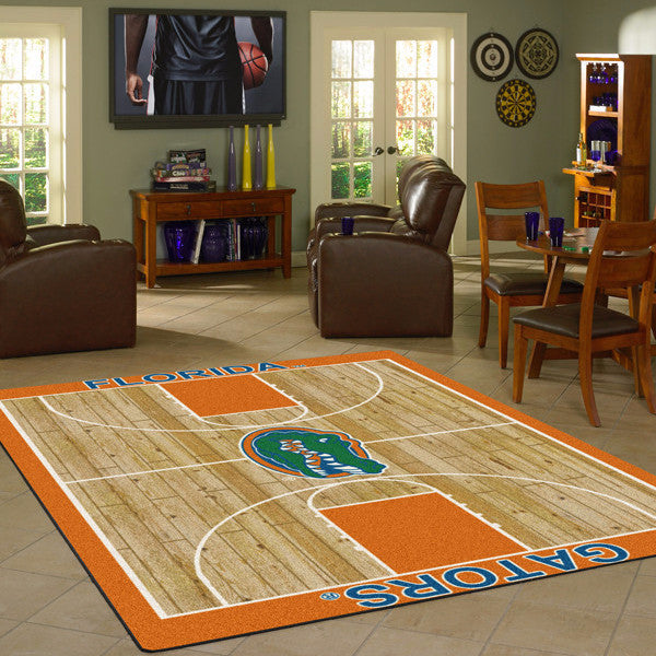 Florida University Gators Basketball Court Rug  College Area Rug - Fan Rugs