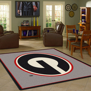 Georgia University Team Spirit Rug  College Area Rug - Fan Rugs