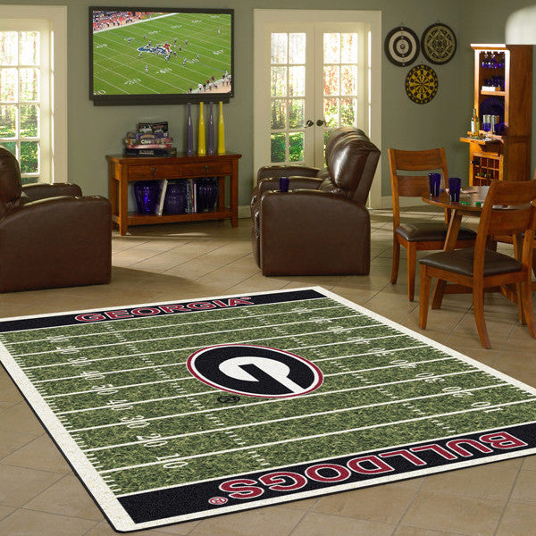 Georgia University Football Field Rug  College Area Rug - Fan Rugs