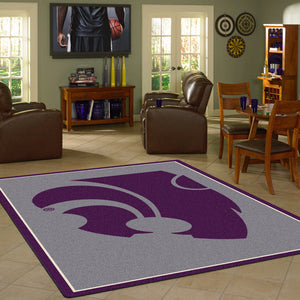 Kansas State University Team Spirit Rug  College Area Rug - Fan Rugs