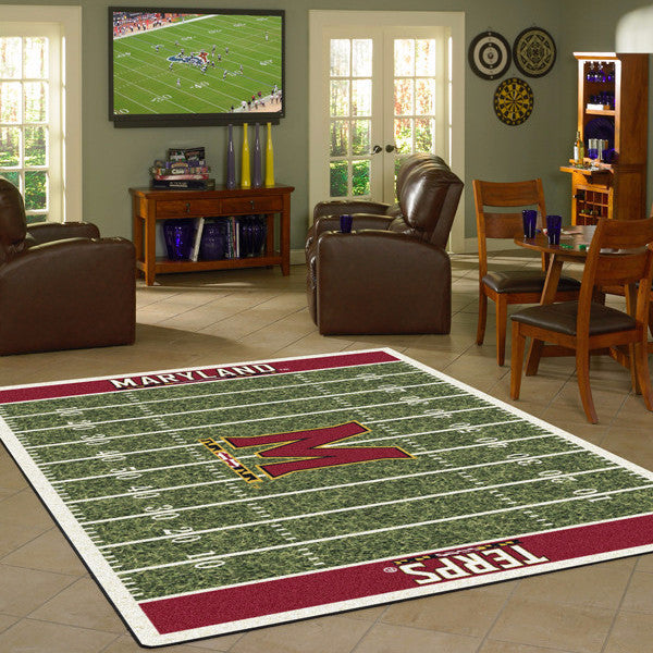 Maryland University Football Field Rug  College Area Rug - Fan Rugs