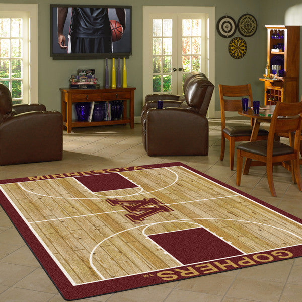 Minnesota University Basketball Court Rug  College Area Rug - Fan Rugs