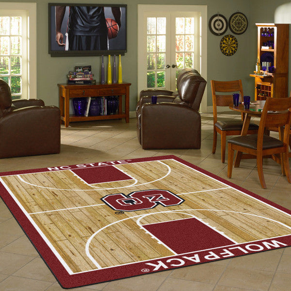 North Carolina State University Basketball Court Rug  College Area Rug - Fan Rugs