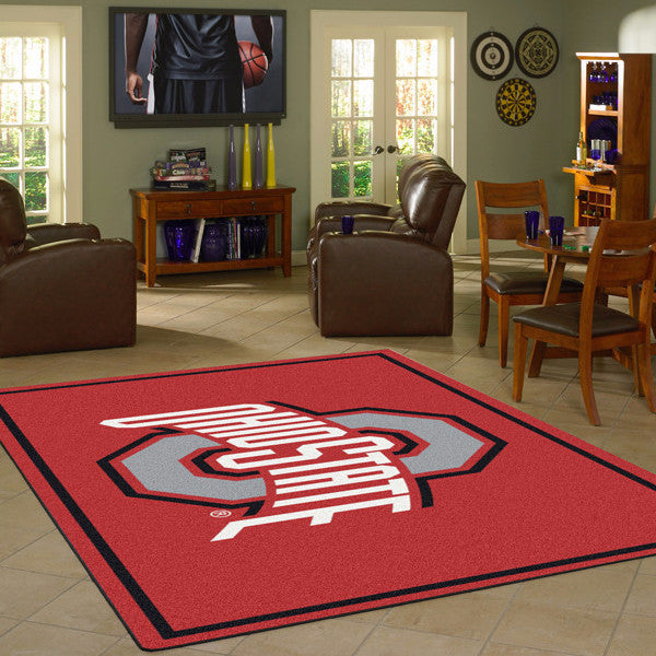 Ohio State University Team Spirit Rug  College Area Rug - Fan Rugs