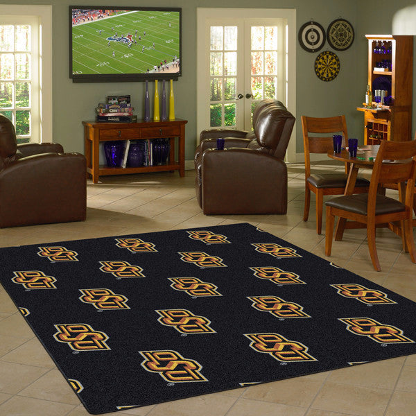 Oklahoma State University Repeating Logo Rug  College Area Rug - Fan Rugs
