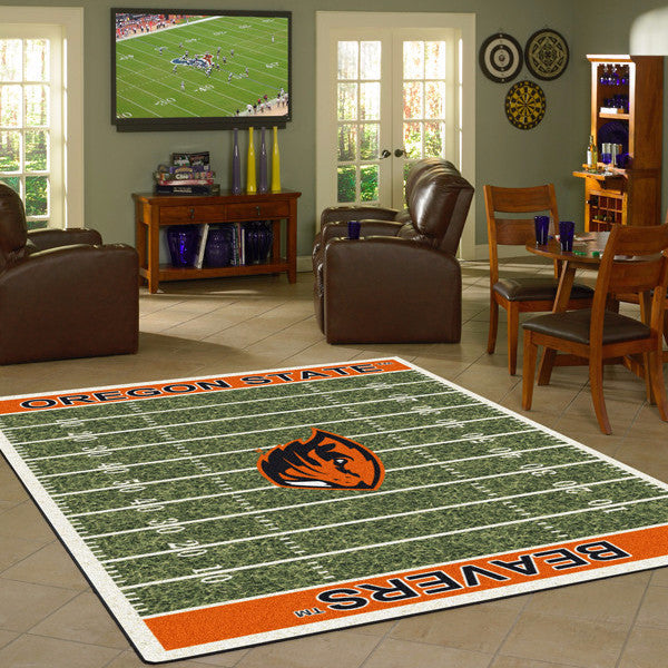 Oregon State Beavers University Football Field Rug  College Area Rug - Fan Rugs