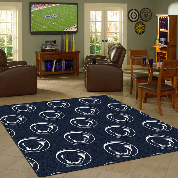 Penn State University Repeating Logo Rug  College Area Rug - Fan Rugs