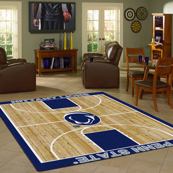 Penn State University Basketball Court Rug  College Area Rug - Fan Rugs