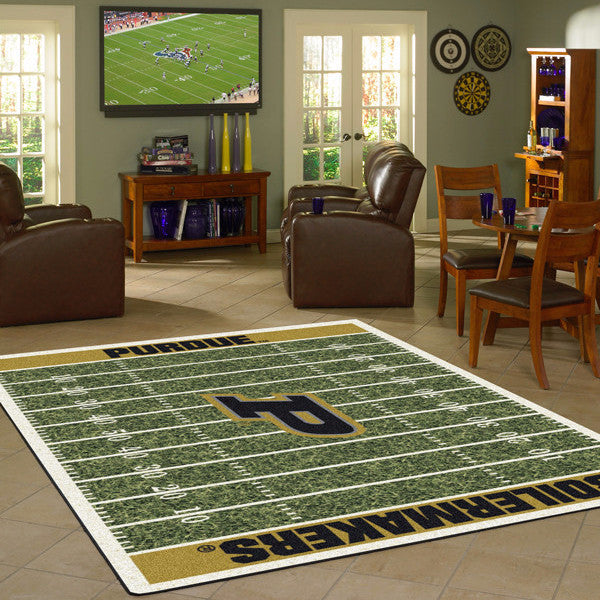 Purdue University Football Field Rug  College Area Rug - Fan Rugs