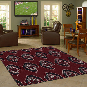 South Carolina University Repeating Logo Rug  College Area Rug - Fan Rugs