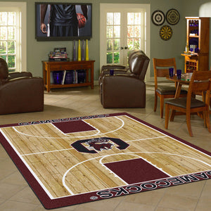 South Carolina University Basketball Court Rug  College Area Rug - Fan Rugs