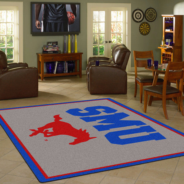 Southern Methodist University Team Spirit Rug  College Area Rug - Fan Rugs