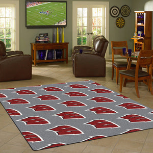 Wisconsin University Repeating Logo Rug  College Area Rug - Fan Rugs