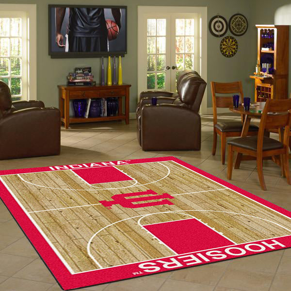 Indiana University Basketball Court Rug  College Area Rug - Fan Rugs