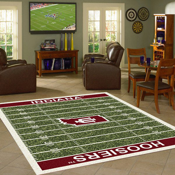 Indiana University Football Field Rug  College Area Rug - Fan Rugs