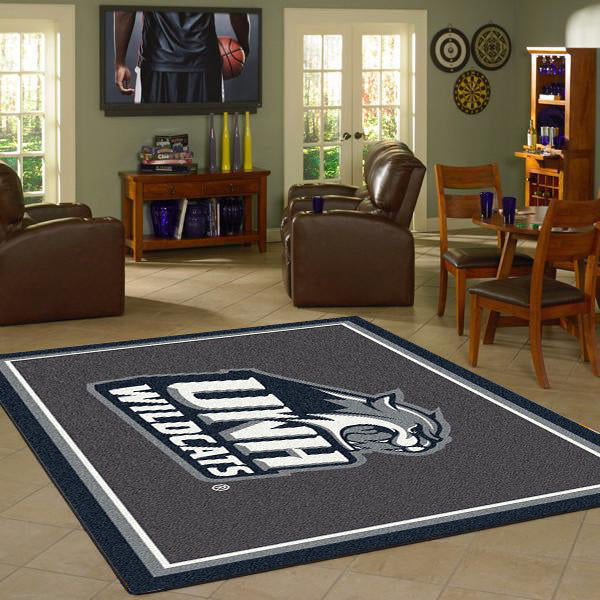 New Hampshire University Team Spirit Rug  College Area Rug - Fan Rugs