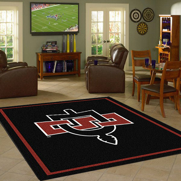 San Diego State University Team Spirit Rug  College Area Rug - Fan Rugs
