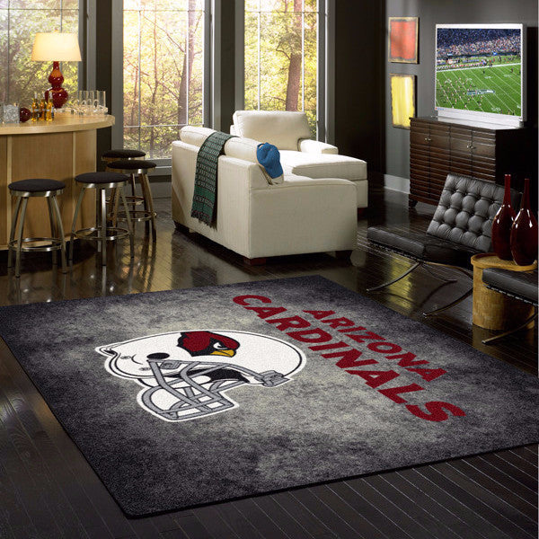 Arizona Cardinals NFL Team Distressed Rug  NFL Area Rug - Fan Rugs
