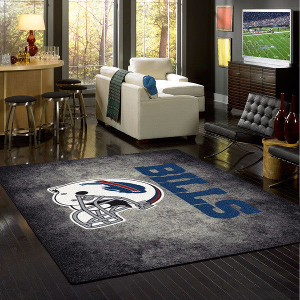 Buffalo Bills NFL Team Distressed Rug  NFL Area Rug - Fan Rugs