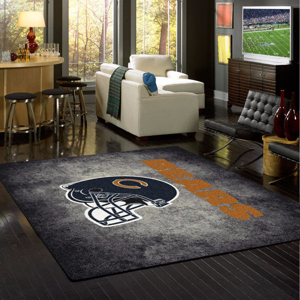 Chicago Bears NFL Team Distressed Rug  NFL Area Rug - Fan Rugs