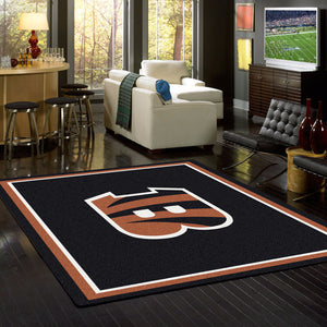 Cincinnati Bengals NFL Team Spirit Rug  NFL Area Rug - Fan Rugs